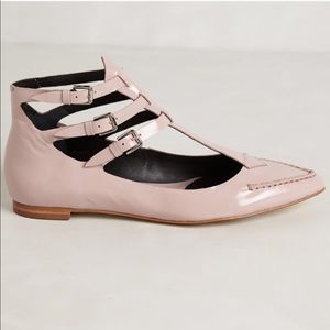 Anthropologie Pied Juste Grace Gladiator flats